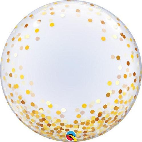 """24"""" Bubble Printed - Gold confetti dots"""