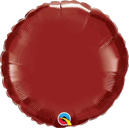 18 Inch Burgundy Round Foil Balloon