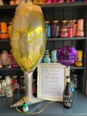 Celebrate Supershape Balloon Champagne Glass