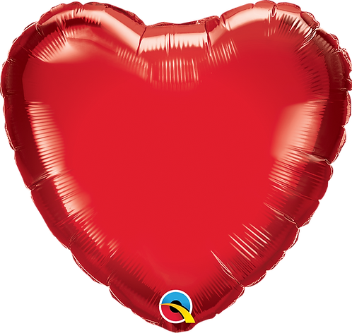 18 Inch Ruby Red Heart Foil Balloon