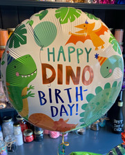 "18"" Foil Happy Dino Birthday Balloon"