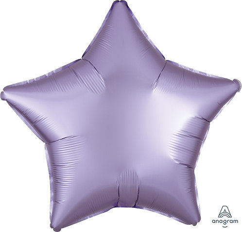 18 Inch Pastel Lilac Plain Star Foil Balloon, Matt Finish
