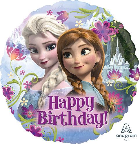 18 Inch Disney Frozen Round Foil Balloon Happy Birthday