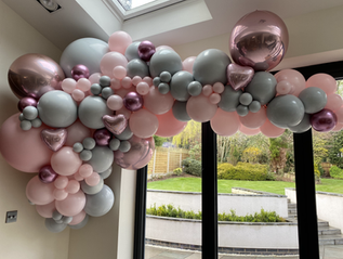 Pink and Grey Luxury Garland