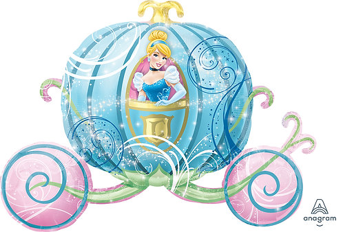 33 Inch Disney Princess Cinderella Carriage Foil Supershape