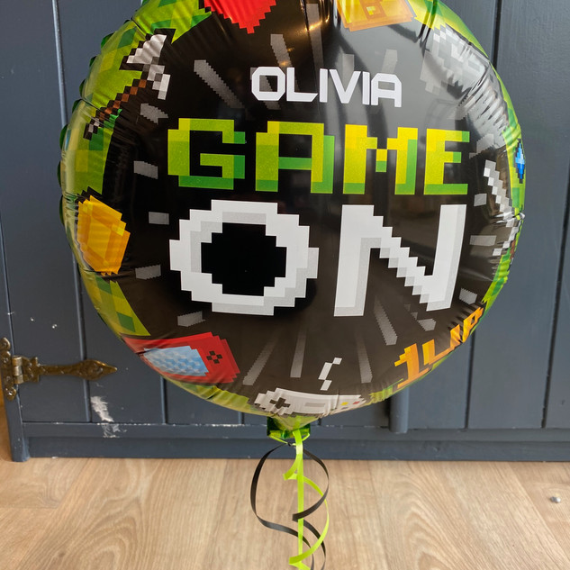 Personalised 18 inch gaming themed ballo