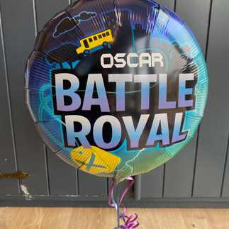 Gaming - 18 Inch themed foil personalised with a name - Battle Royal Fortnite