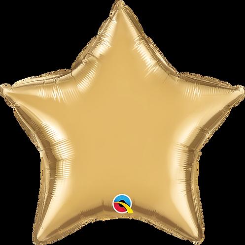 18 Inch Chrome Gold Star Foil Balloon