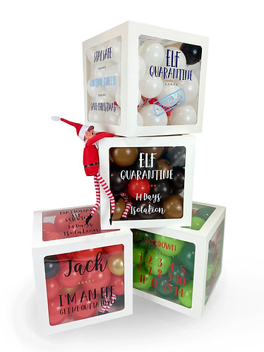 Christmas Elf Arrival Quarantine Balloon Box