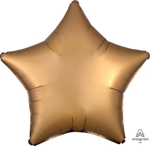 18 Inch Gold Plain Star Foil Balloon, Matt Finish