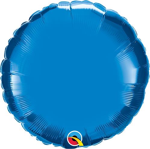 18 Inch Sapphire Blue Round Foil Balloon