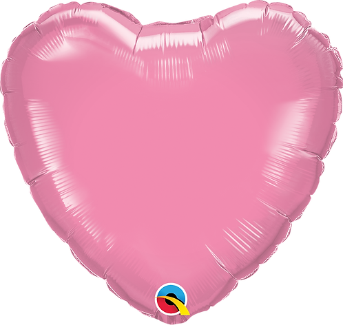 18 Inch Rose Pink Heart Foil Balloon
