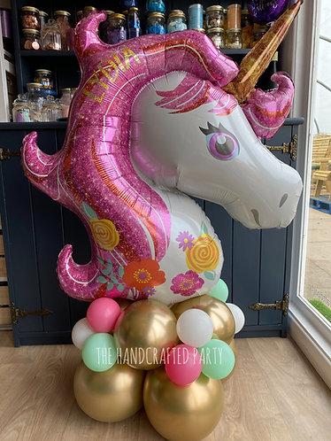 Pastel Pink Unicorn Supershape, personalised