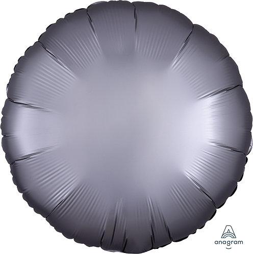 18 Inch Platinum Round Foil Balloon, Satin Luxe