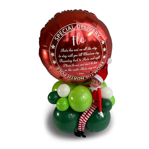 Personalised Elf Arrival Special Delivery Balloon