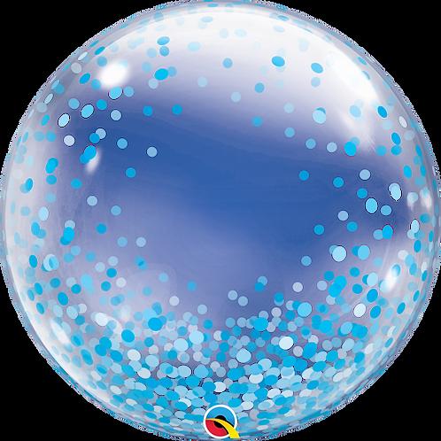 """24"""" Bubble Printed - Blue confetti dots"""