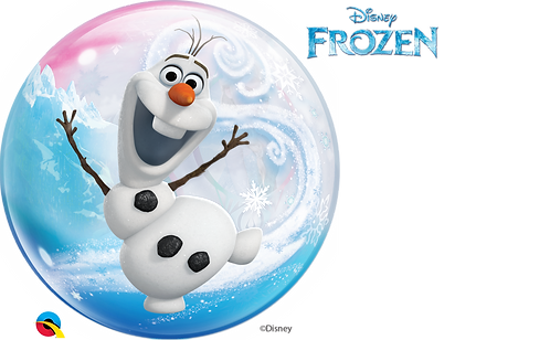 22 Inch Disney Frozen Clear Bubble Balloon, Anna, Elsa and Olaf