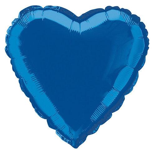 18 Inch Dark Blue Heart Foil Balloon