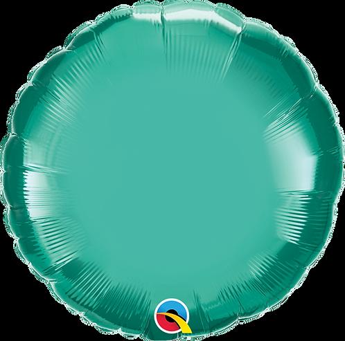 18 Inch Chrome Green Round Foil Balloon