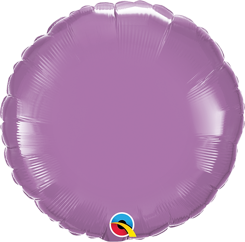 18 Inch Spring Lilac Round Foil Balloon
