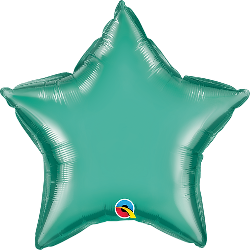 18 Inch Chrome Green Star Foil Balloon