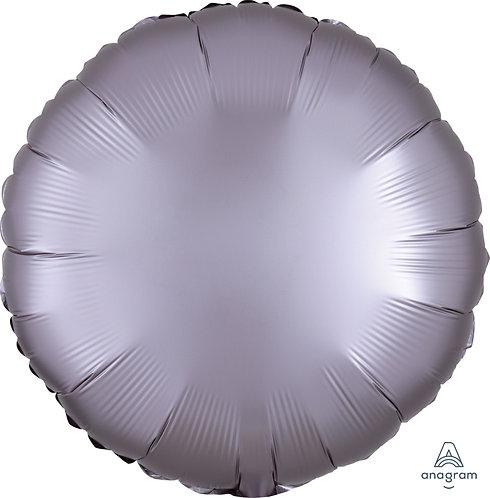 18 Inch Greige Grey Round Foil Balloon, Satin Luxe