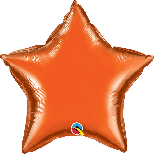 18 Inch Orange Star Foil Balloon