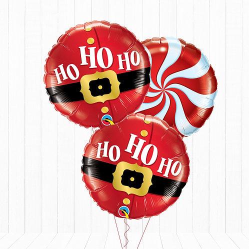 18 Inch Christmas Eve/Christmas Day HO HO HO Helium Inflated Foil Balloon Bouque