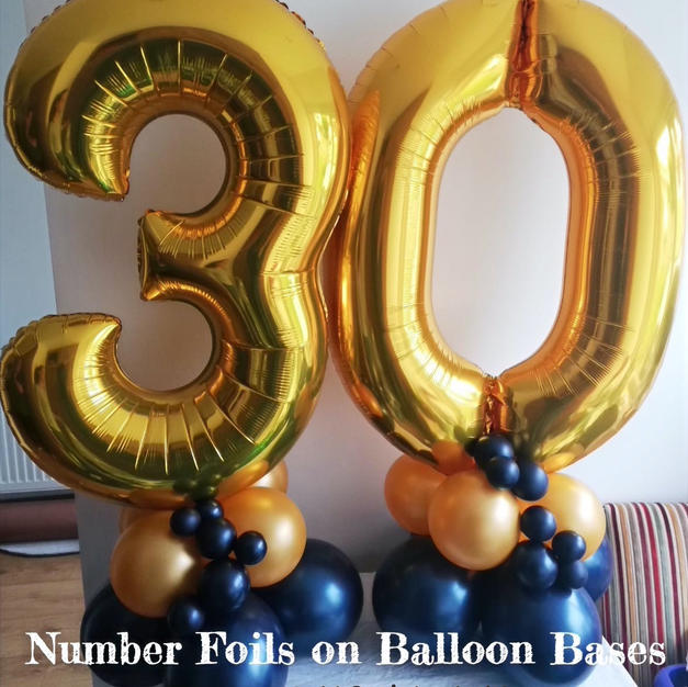 Number Foils - Gold & Midnight Blue