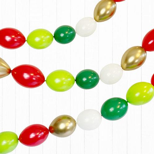 "Christmas Linking Balloon Set Garland DIY Pack 5"" Balloons"