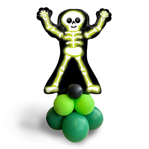 Supershape Foil Balloon - Halloween Neon Skelly Skeleton