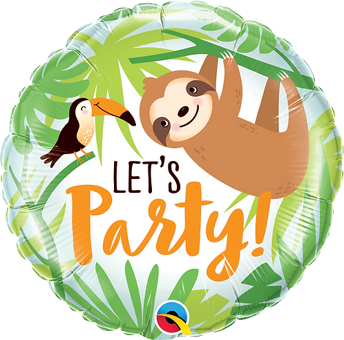 18 Inch Let's Party Toucan Sloth Foil Balloon