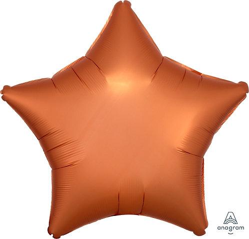 18 Inch Amber Plain Star Foil Balloon, Matt Finish
