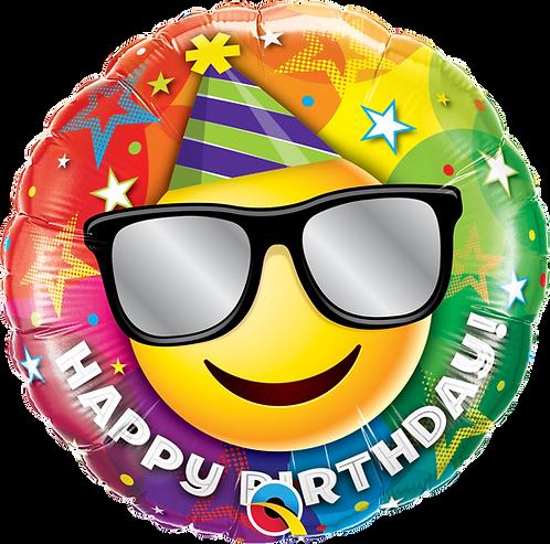 18 Inch Emoji Happy Birthday Foil Balloon