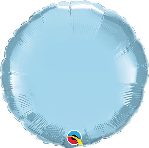 18 Inch Pastel Blue Round Foil Balloon