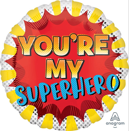 "18"" Round You're my Superhero"