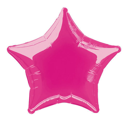 18 Inch Bright Pink Star Foil Balloon