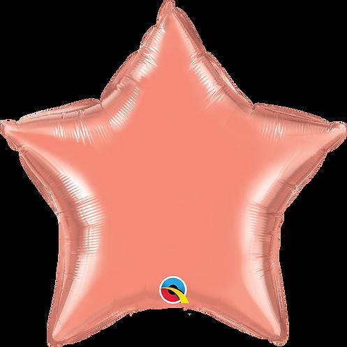 18 Inch Coral Star Foil Balloon