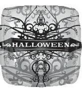 18 Inch Foil Balloon - Halloween Gothic Print