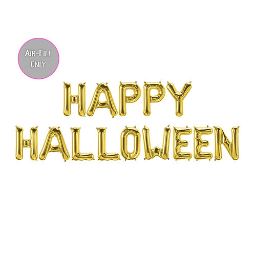 16 inch 'Happy Halloween' air-fill gold letter kit