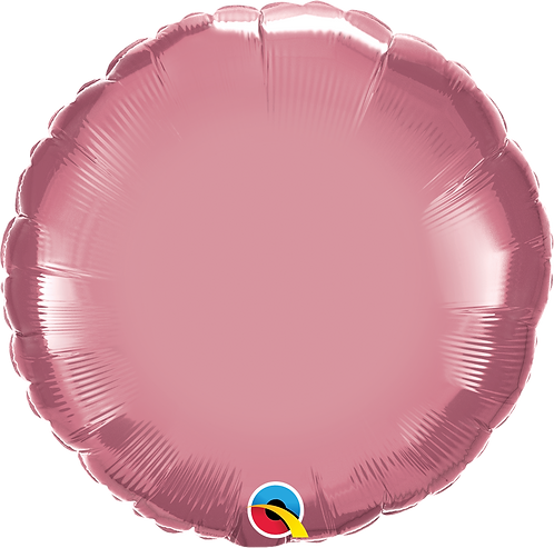 18 Inch Chrome Mauve Round Foil Balloon
