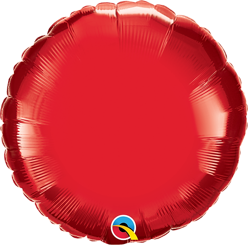 18 Inch Ruby Red Round Foil Balloon