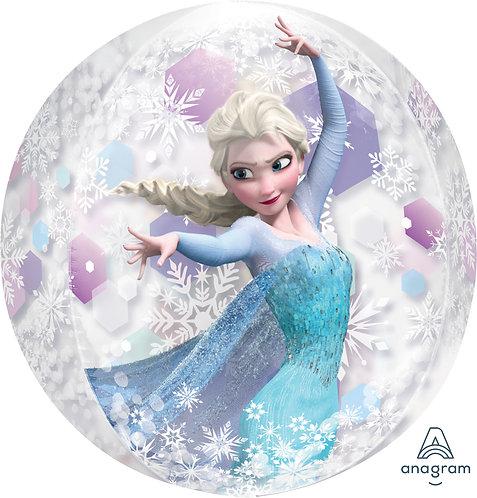 16 Inch Disney Frozen Clear Orbz Foil Balloon, Anna and Elsa