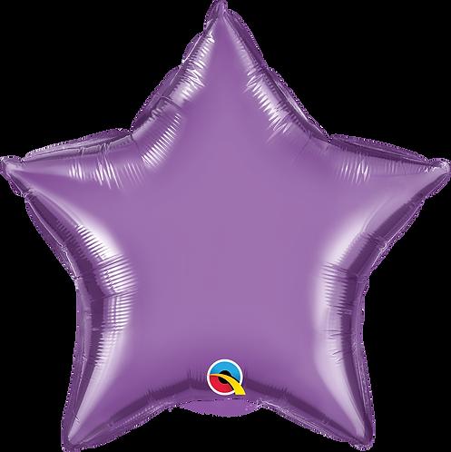 18 Inch Chrome Purple Star Foil Balloon