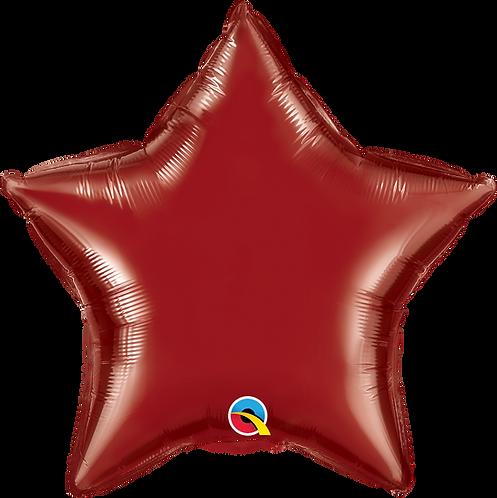 18 Inch Burgundy Star Foil Balloon