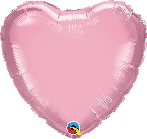 18 Inch Pearl Pink Heart Foil Balloon