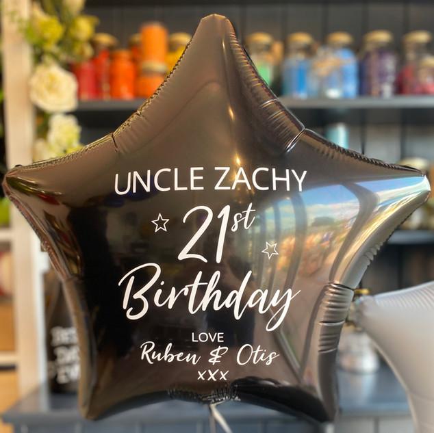21st Birthday - Personalised plain foil