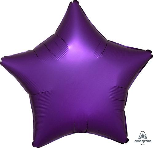 18 Inch Purple Royale Plain Star Foil Balloon, Matt Finish