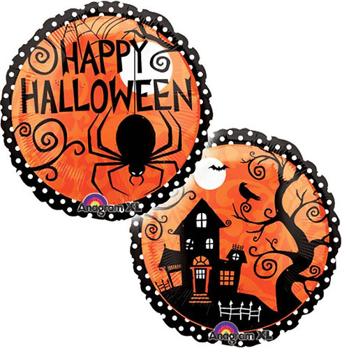 18 Inch Foil Balloon - Happy Halloween Haunted House
