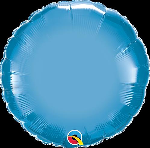 18 Inch Chrome Blue Round Foil Balloon